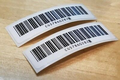 - 2 PACK* Nintendo Game Boy Color Replacement Bar Code Sticker ~MINT~FREE SHIPPING