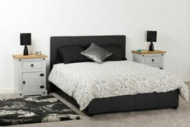 🌈🌈Most Beautiful Designs🌈🌈DOUBLE FAUX LEATHER BED FRAME - AVAILABLE IN BLACK / BROWN