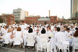 Dinner En Blanc Chairs & Table Set (60cm) & White Table Cloth Neutral Bay North Sydney Area Preview