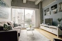 Furnished Executive Condo Downtown Montreal - May to August 2016