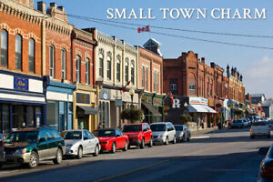 Retail Location. Busy street in Port Perry.