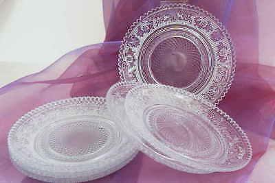 he kleine nostalgische Teller Platte Servierplatte Glas 15cm (Kleine Servierplatte)