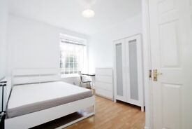 Stratford and Canning town stations just near this double room!