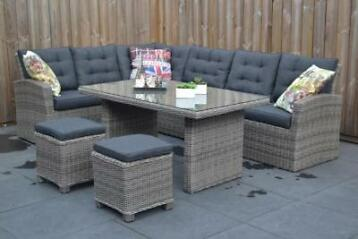 Denver Lounge Dining Set Natural Grey, VROEGE VOGEL ACTIE!
