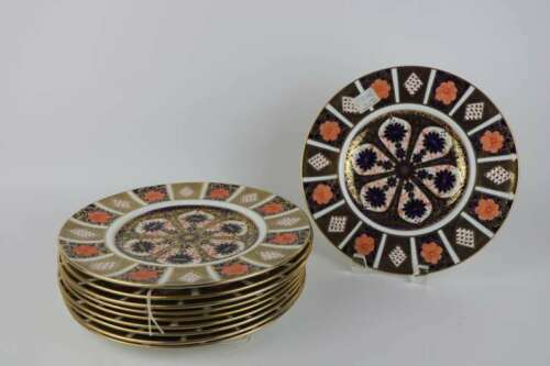 "Rare 11 Royal Crown Derby Old Imari 10 3/8"" Dinner Plate Set Sold Individually"