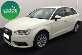 £180.51 PER MONTH WHITE 2013 AUDI A3 1.6 TDI SE 5 DOOR DIESEL MANUAL