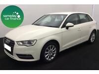 £169.89 PER MONTH WHITE 2013 AUDI A3 1.6 TDI SE 5 DOOR DIESEL MANUAL