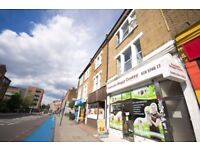 COMPANY LETS ACCEPTED 7 BEDROOM APARTMENT SET ABOVE COMMERCIAL PREMISES ON BALHAM HIGH ST SW12 £980