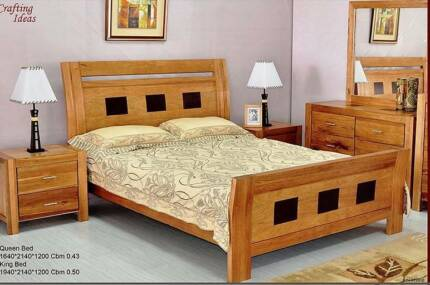 Saratoga Mountain Ash Timber Bedroom Suite