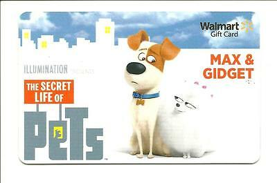 Walmart The Secret Life of Pets Gift Card Max & Gidget No $ Value Collectible