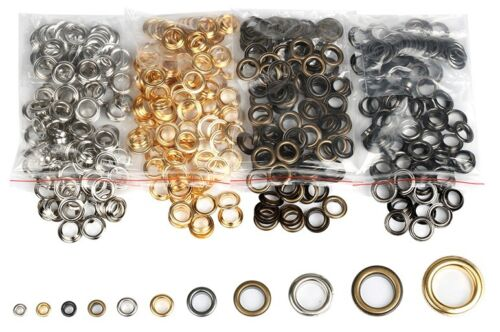 Pack 20/50/100  4mm to 17mm Eyelet Grommet Clothing Leather Banner Craft USA