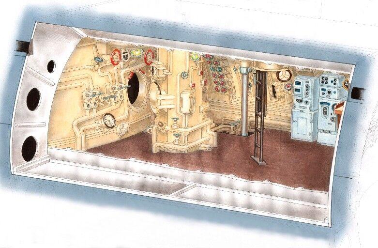 CMK 1/72 Type IXC Command Section & Control Room # N7214