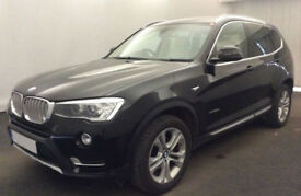 Black BMW X3 2.0TD 4X4 xDrive Auto 2014 xLine FROM £88 PER WEEK!