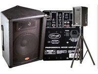 Mixer Amplifier Speaker