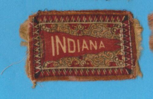 c1910s tobacco cigarette felt SMALL w/ fringe UNIVERSITY of INDIANA  #2