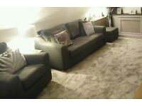 DFS Sofa, Chair and Foot Stool Suite