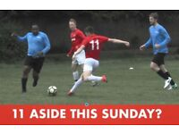 11 ASIDE ON SUNDAY, EVERY SUNDAY IN BALHAM. BOOK YOUR SPACE NOW. JOIN SOCCER TEAM LONDON: Ref: 18sj