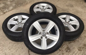"GENUINE VW 16"" DOVER GOLF MK7 ALLOYS W/CONTINENTAL TYRES - CADDY/TOURAN - SLOUGH"