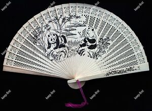 Exquisite-Popular-Chinese-Handmade-Sandalwood-Panda-Pattern-Folding-fan