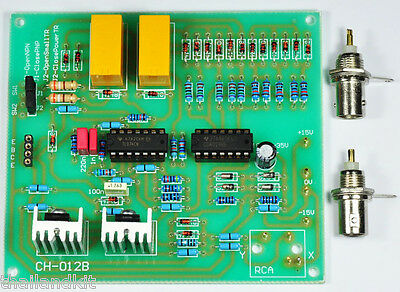 Bjt Transistor Curve Tracer Adapter Pcb Board X-y Oscilloscopes Assembled Kit