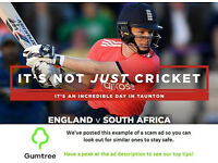 England vs South Africa - 4th Test - Day 5 Tickets -- Read the ad description before replying!!