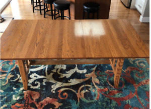 Solid Oak, Dining Table
