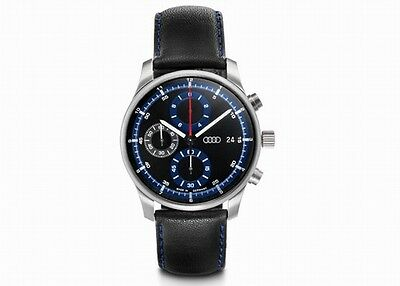 Audi Chronograph schwarz/blau, Audi Uhr, Audi Armbanduhr für Herren