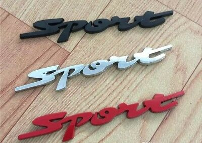 Car Styling Door Trunk Window Sport Emblem Fender Trim Kit 2 Pieces