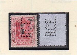 Espana-Monarquia-valor-con-perforacion-comercial-B-C-E-ano-1922-30-DH-353
