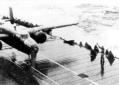 """Doolittle Raid B-25B Mitchell Bomber USS Hornet  5""""x 7"""" World War II Photo #111"""