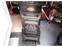 Provincial calor gas fire cast iron with flame
