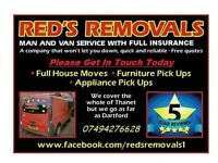 Reds removals man and van