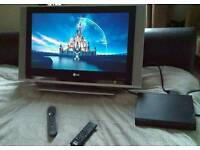 """27"""" LG TV with Sony DVD player"""