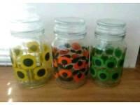 Immaculate Orla Kiely Douwe Egberts coffee jars