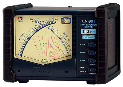 Daiwa CN-901HP 1.8 - 200 MHz Cross-Needle SWR & Power -