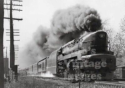 Pennsylvania Railroad T-1 photo Sharknose  5525 Train Steam  1940s Art Deco PRR
