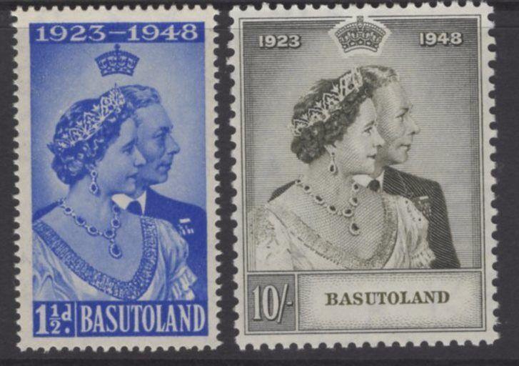 BASUTOLAND SG36/7 1948 SILVER WEDDING MNH