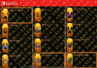 Diablo 3 Nintendo Switch 44 Cosmetics Pets And Wings