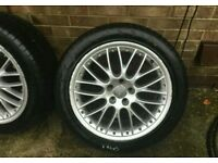 "Audi bbs Speedline 19"" alloy wheels & tyres 5x112 vag vw"