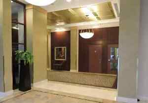 Master bedrm with private bathroom & balcony at Yaletown seawall