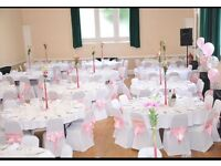 Event Decorations! Chair Covers/ Sashes/ Tablecloth/ Centrepiece Hire in SOUTHWARK!!!