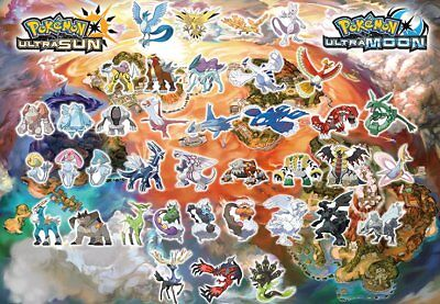 Choose from All 73 Legendary Pokemon Ultra Beast Shiny Ultra Sun Moon USUM 3DS