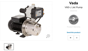 water pump / pressure pump  Vada v60-j pressure pump and cover Mount Burrell Tweed Heads Area Preview