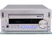 SONY MDS-SD1 CD Amplifier am/fm tuner + Silver Speakers + Remote control