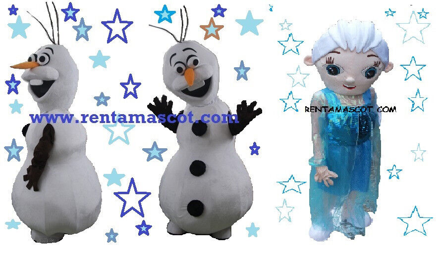 CHRISTMAS MASCOT FANCY DRESS PARTY APPEARANCE EVENT ELSA OLAF FROZEN OUTFIT MEET AND GREET ENTERTAIN