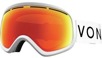 NEW VonZipper Skylab White Gold Mirror Mens Ski Snowboard Goggles +lens (Von Zipper Skylab)