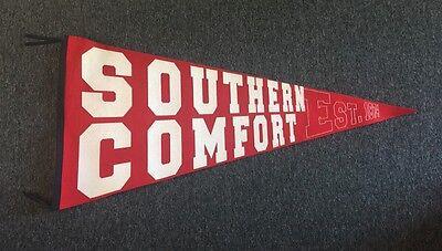 "HUGE 47"" Southern Comfort Bourbon Whiskey Felt Pennant Sign Bar Decor COOL!!!"