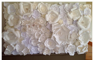 Beautiful floral paper wall art - wedding decor.