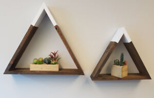 Hand Crafted Hexagon, Mountain and Triangle Shelves!!