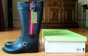 NEW women's black rain boots by Be Only size 41 (US size 10.5)